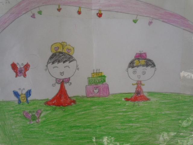 迎新年卡通画 儿童画图片展示_迎新年卡通画 儿童图片
